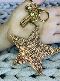 Crystal Star Keyring Rose Gold