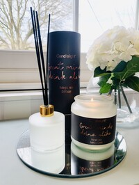 'Great Minds Drink Alike' Candle And Diffuser - Midnight Rose Scent