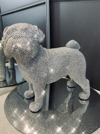 Sparkly Diamante Standing Pug