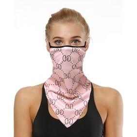 Pink CC Print Scarf/Mask