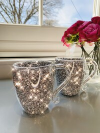 Crystal Glitz Mugs Set of 2