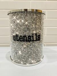 Crystal Glitz Utensils Pot