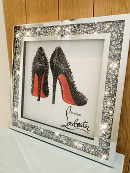 Crystal Frame Red Sole Wall Art