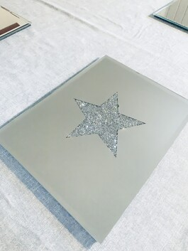 Mirrored Crystal Star Coasters and Placemats