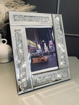 """Mirrored Crystal Frame 4x6"""""""