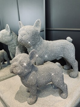 Sparkly Diamante Standing French Bulldog Small & Large