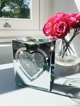 Crystal Heart Wax/Oil Burner