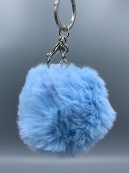 Fluffy Keyring Baby Blue