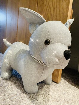 Sparkly Chihuahua Doorstop