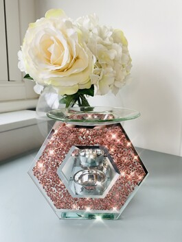 Pink Crystal Wax/Oil Burner