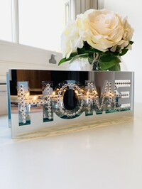 Crystal Home Mirrored Tealight Holder