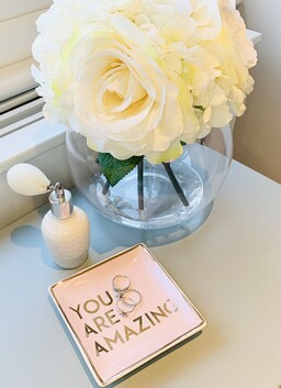 'You are amazing' square trinket dish