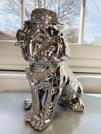 Bulldog With Crystal Hat & Tie