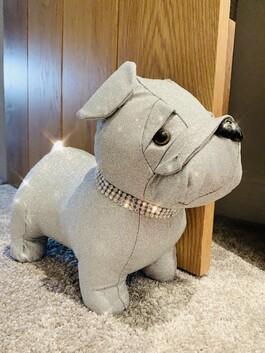Sparkly Pug Doorstop