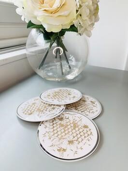 Bee Honeycomb Coasters
