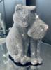 Sparkly Diamante Cuddling Cats