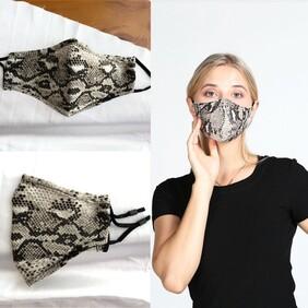 Snakeskin Print Mask