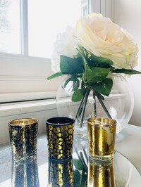 Animal Luxe Set Of 3 Candle Pots - Midnight Pomegranate