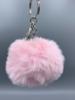 Fluffy Keyring Baby Pink