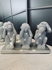 Sparkly Diamante Three Wise Monkeys - PRE ORDER