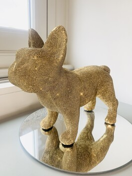 Sparkly Standing French Bulldog Gold