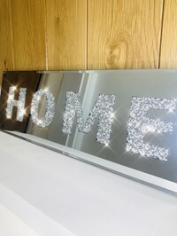 Mirrored Crystal Home Plaque