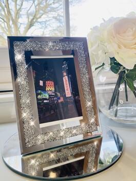"""Crystal Glitz Mirror Frame 5x7"""""""