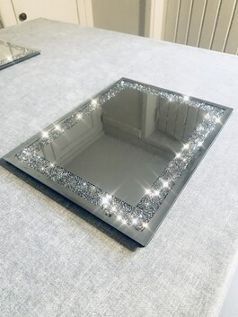 Mirrored Crystal Coasters and Placemats