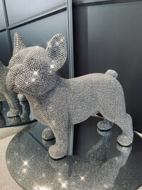 Sparkly Diamante Standing French Bulldog