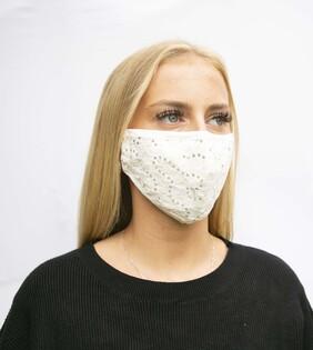 Cream Lace Mask