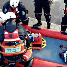 Patient management and intervention: Vehicle trapped in water (HART Specific)