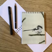Charming Long Tail Tit Note Pad