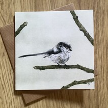 Charming Long Tailed Tit Greetings Card