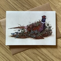 Percy the Pheasant Greetings Card