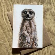 Melvin the Meerkat Greetings Card
