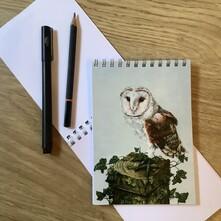 Whisper the Barn Owl Note Pad
