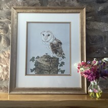 Whisper the Barn Owl Original Painting