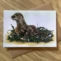 Oscar the Otter Greetings Card