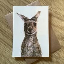 Kenny the Kangaroo Greetings Card