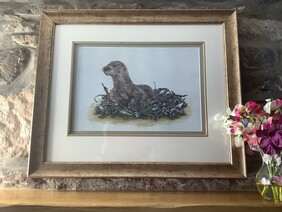 Oscar the Otter Original Painting