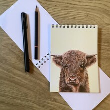 Harry the Hairy Highland Cow Note Pad