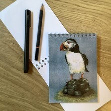 Puffin standing doing Nuffin! Note Pad