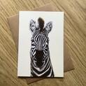 Zoe the Zebra Greetings Card