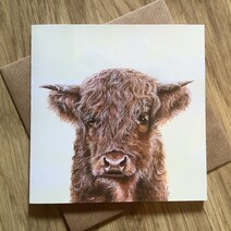 Harry the Hairy Highland Cow Greetings Card