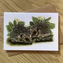 Baby Hedgehogs Greetings Card