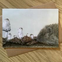 Milligan the Hedgehog Greetings Card
