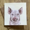 Truffle the Little Pink Piggie Greetings Card